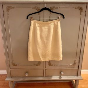 Talbots cream skirt